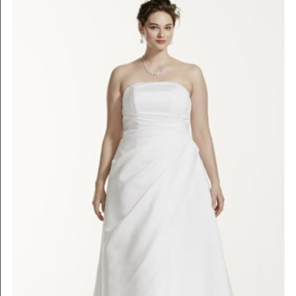 David\'s Bridal Dresses   Davids Bridal Style 9t8076 White Wedding ...